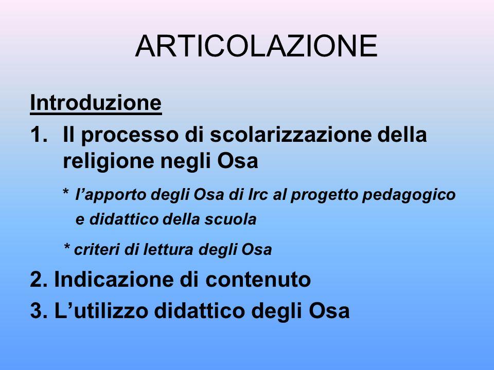 ARTICOLAZIONE Introduzione
