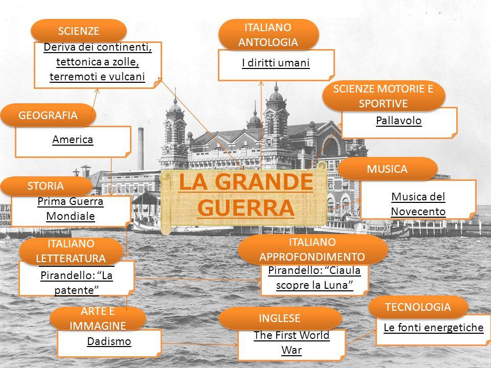 LA GRANDE GUERRA ITALIANO ANTOLOGIA SCIENZE