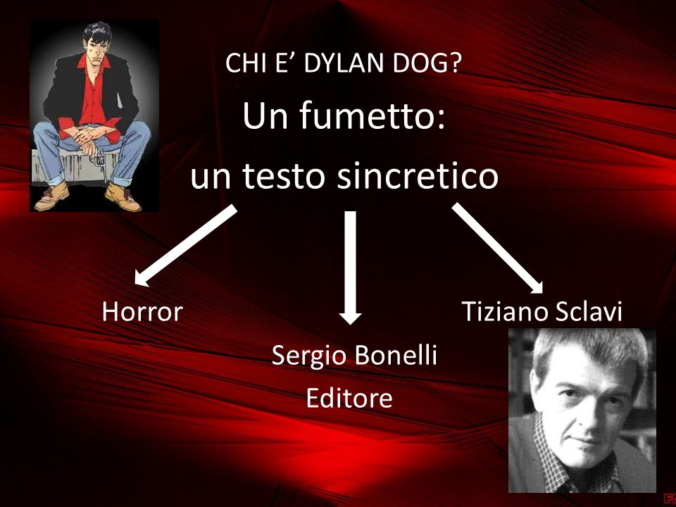 Un fumetto: un testo sincretico CHI E' DYLAN DOG