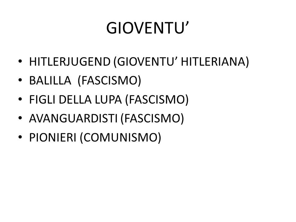 GIOVENTU' HITLERJUGEND (GIOVENTU' HITLERIANA) BALILLA (FASCISMO)