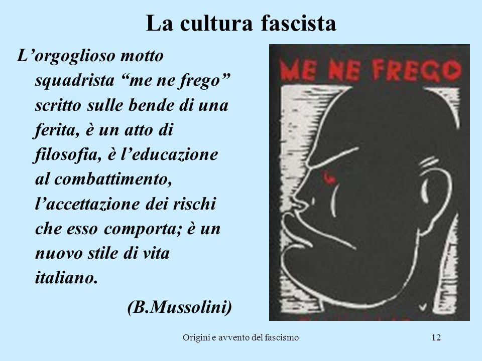 Origini e avvento del fascismo