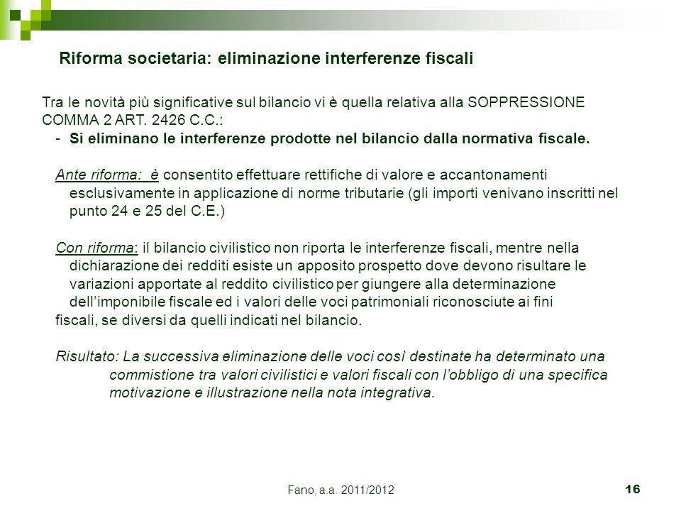 Riforma societaria: eliminazione interferenze fiscali
