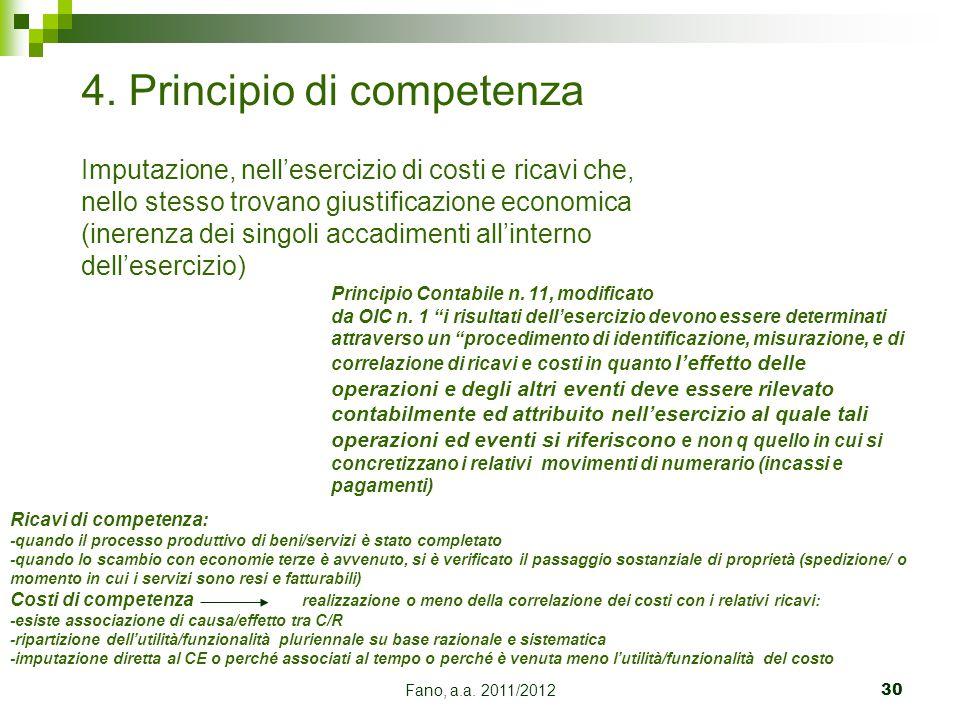 4. Principio di competenza