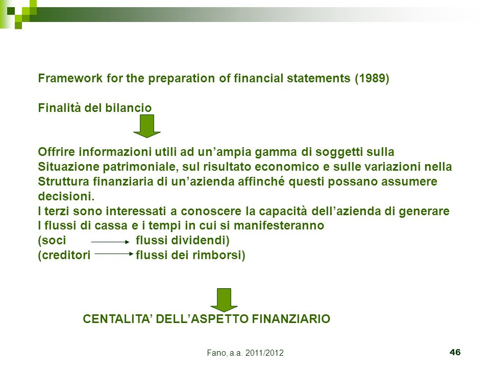Framework for the preparation of financial statements (1989)