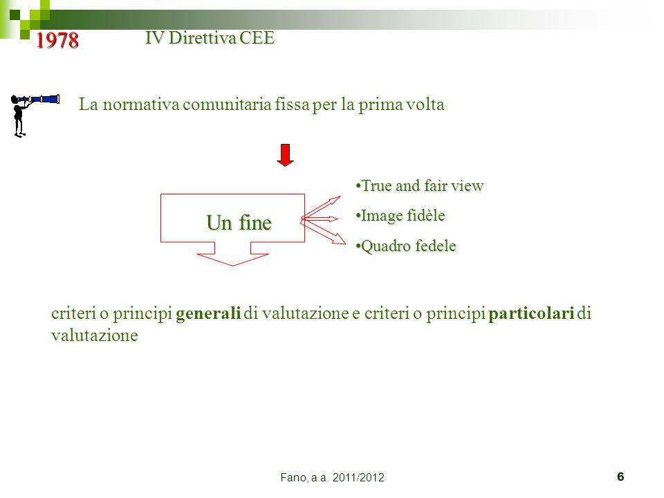 1978 Un fine IV Direttiva CEE