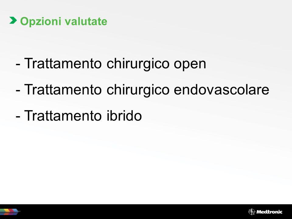 Trattamento chirurgico open Trattamento chirurgico endovascolare