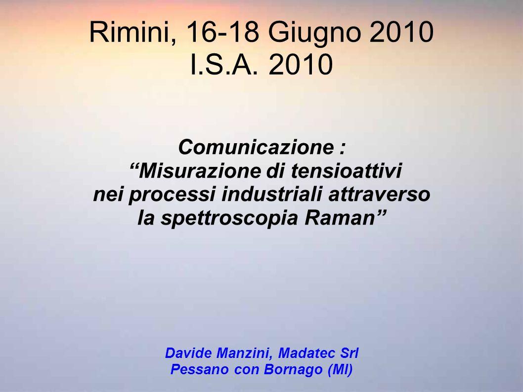 Rimini, 16-18 Giugno 2010 I.S.A. 2010 Comunicazione :