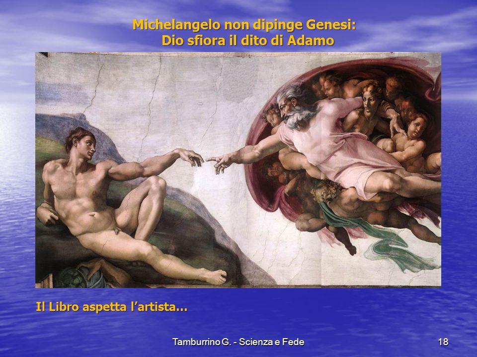 Michelangelo non dipinge Genesi: Dio sfiora il dito di Adamo