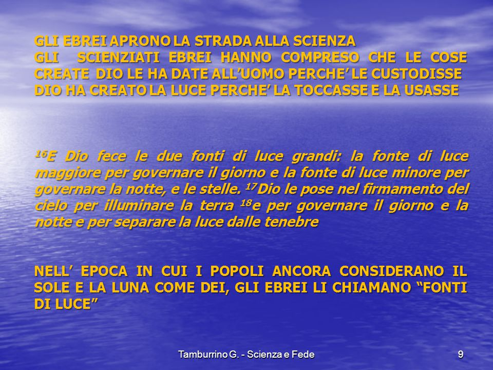 Tamburrino G. - Scienza e Fede