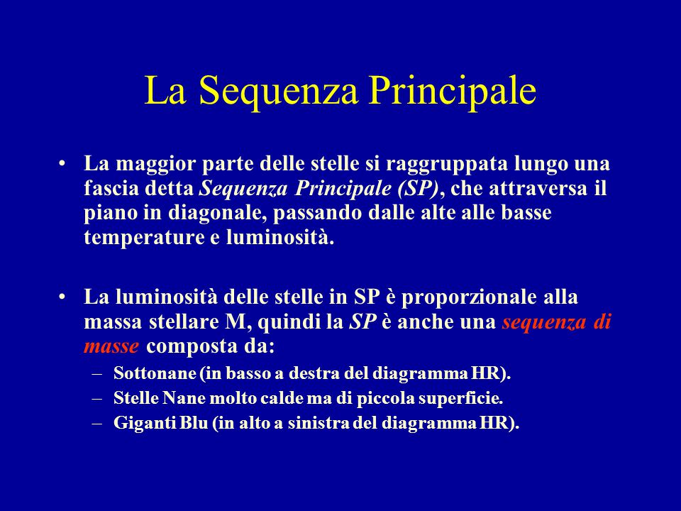 La Sequenza Principale