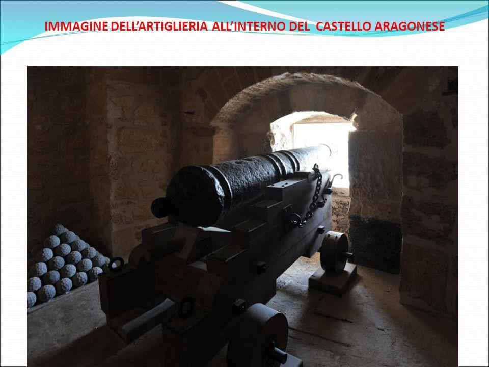 IMMAGINE DELL'ARTIGLIERIA ALL'INTERNO DEL CASTELLO ARAGONESE