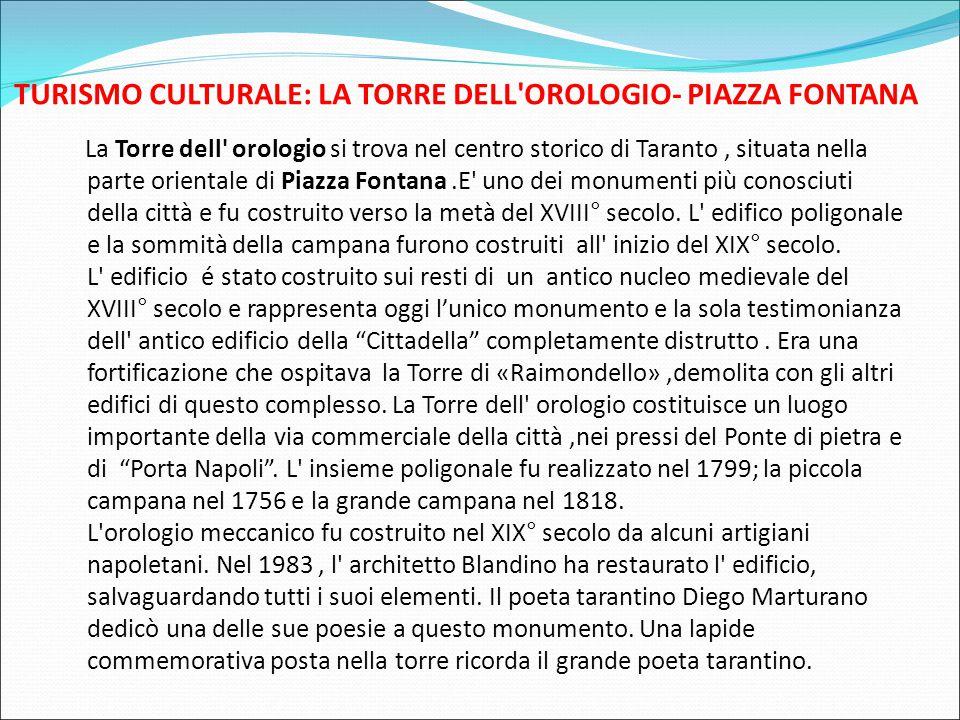 TURISMO CULTURALE: LA TORRE DELL OROLOGIO- PIAZZA FONTANA