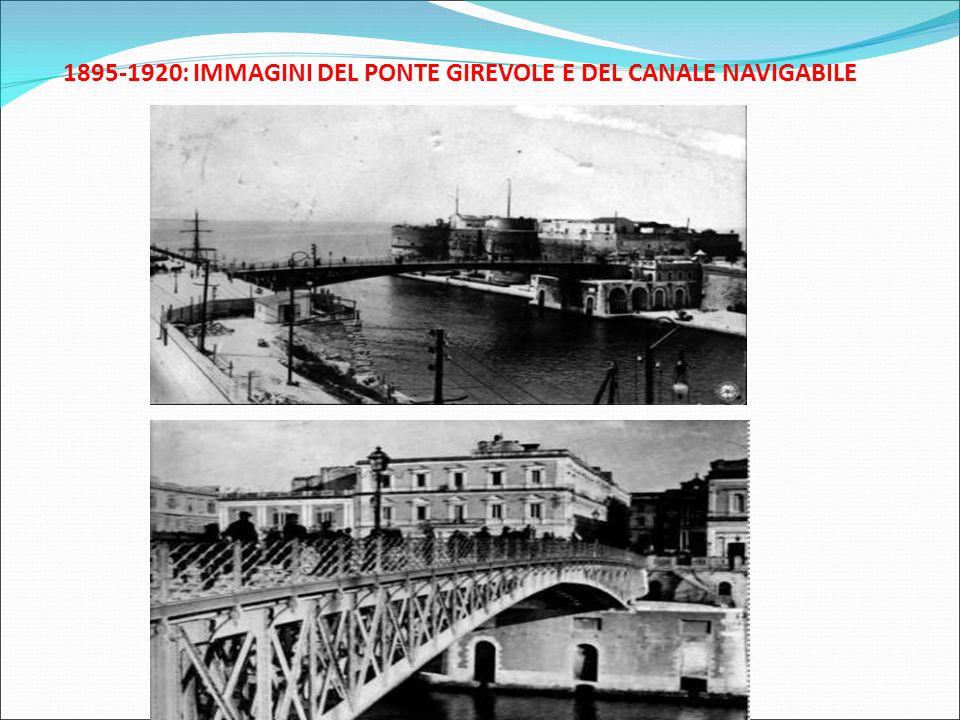 1895-1920: IMMAGINI DEL PONTE GIREVOLE E DEL CANALE NAVIGABILE