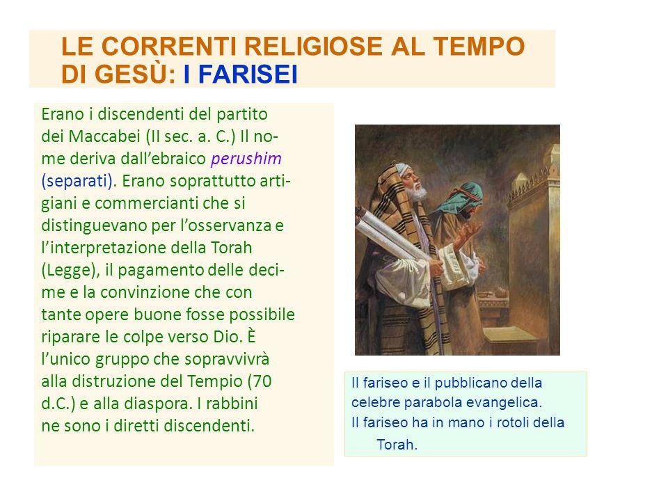 LE CORRENTI RELIGIOSE AL TEMPO DI GESÙ: I FARISEI