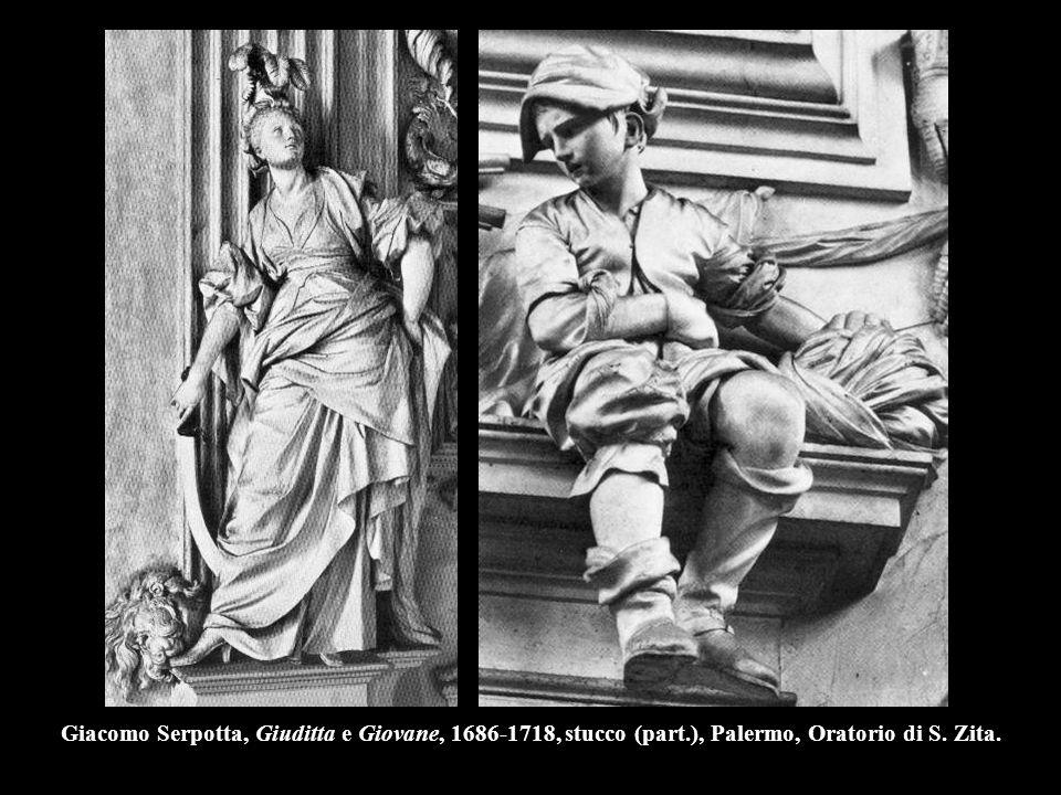 Giacomo Serpotta, Giuditta e Giovane, 1686-1718, stucco (part
