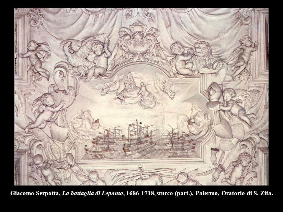 Giacomo Serpotta, La battaglia di Lepanto, 1686-1718, stucco (part