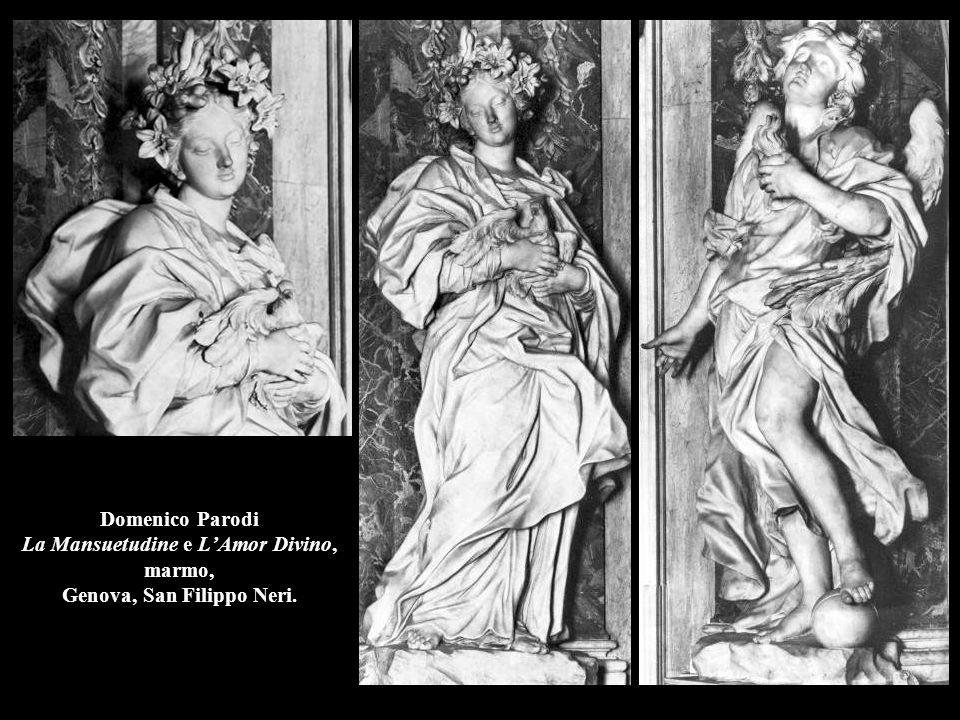 Domenico Parodi La Mansuetudine e L'Amor Divino, marmo, Genova, San Filippo Neri.