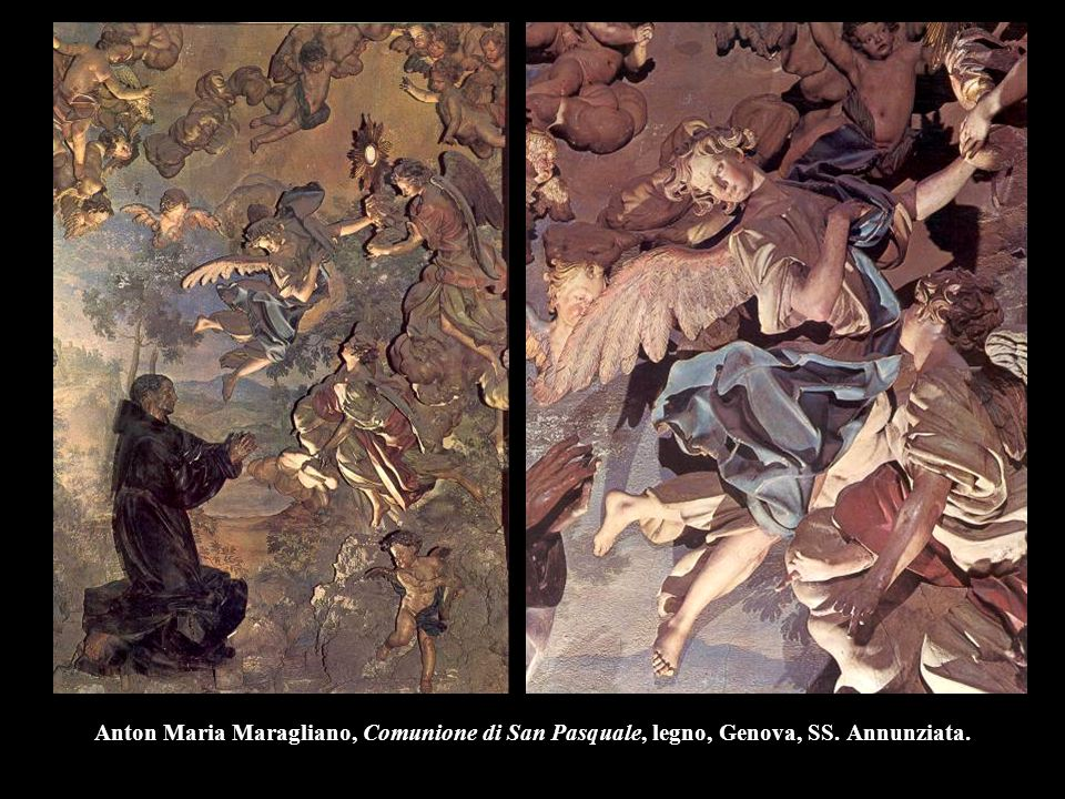 Anton Maria Maragliano, Comunione di San Pasquale, legno, Genova, SS