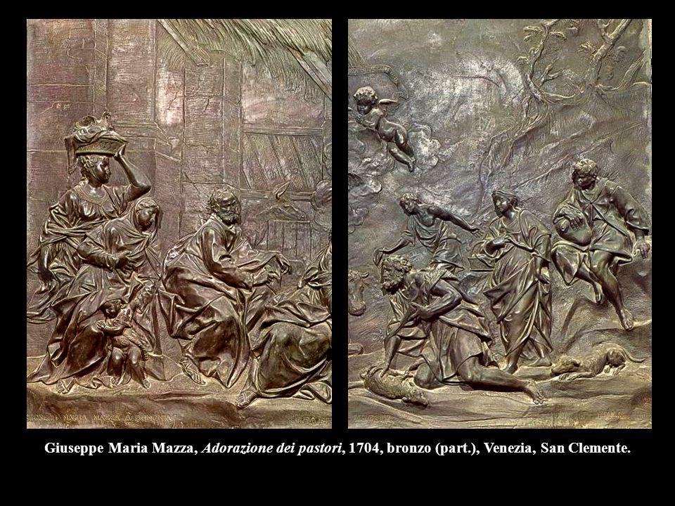 Giuseppe Maria Mazza, Adorazione dei pastori, 1704, bronzo (part