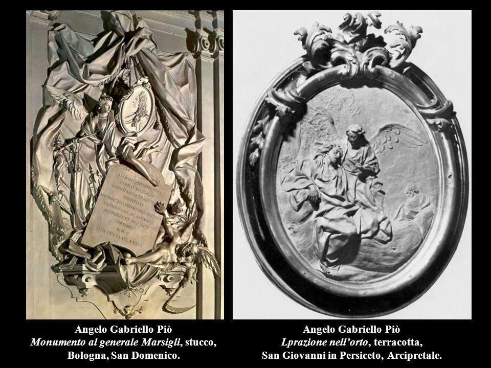 Angelo Gabriello Piò Monumento al generale Marsigli, stucco, Bologna, San Domenico.