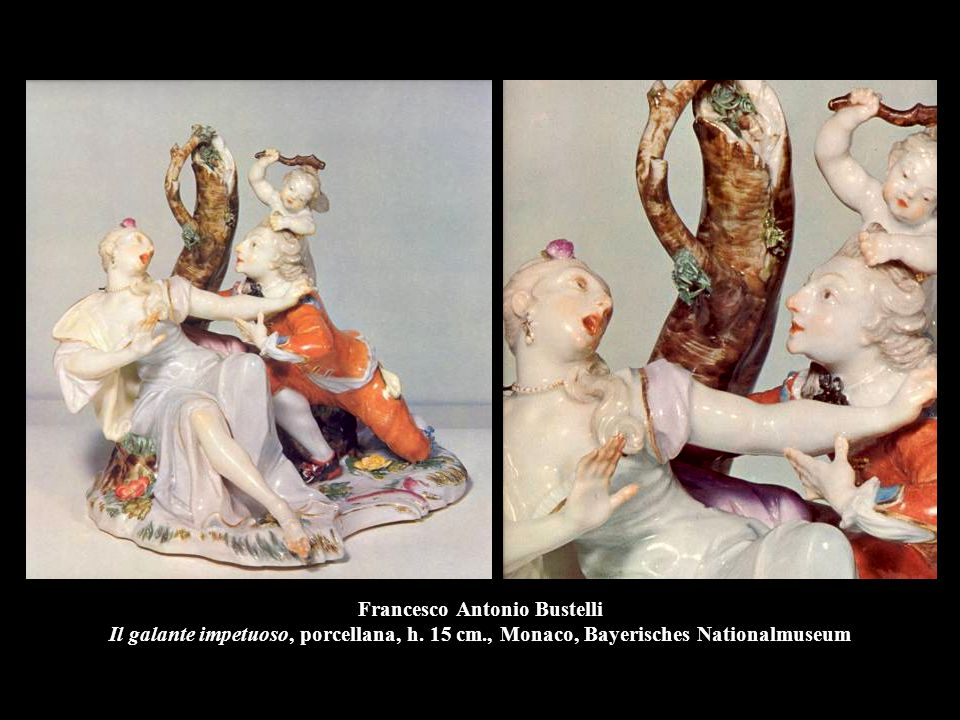Francesco Antonio Bustelli Il galante impetuoso, porcellana, h. 15 cm