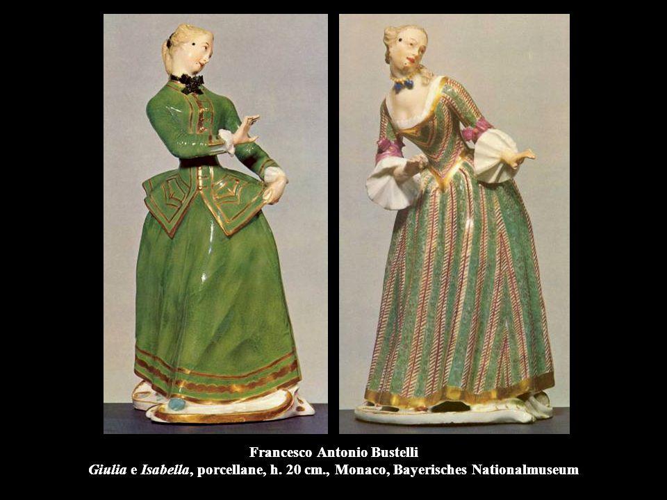 Francesco Antonio Bustelli Giulia e Isabella, porcellane, h. 20 cm
