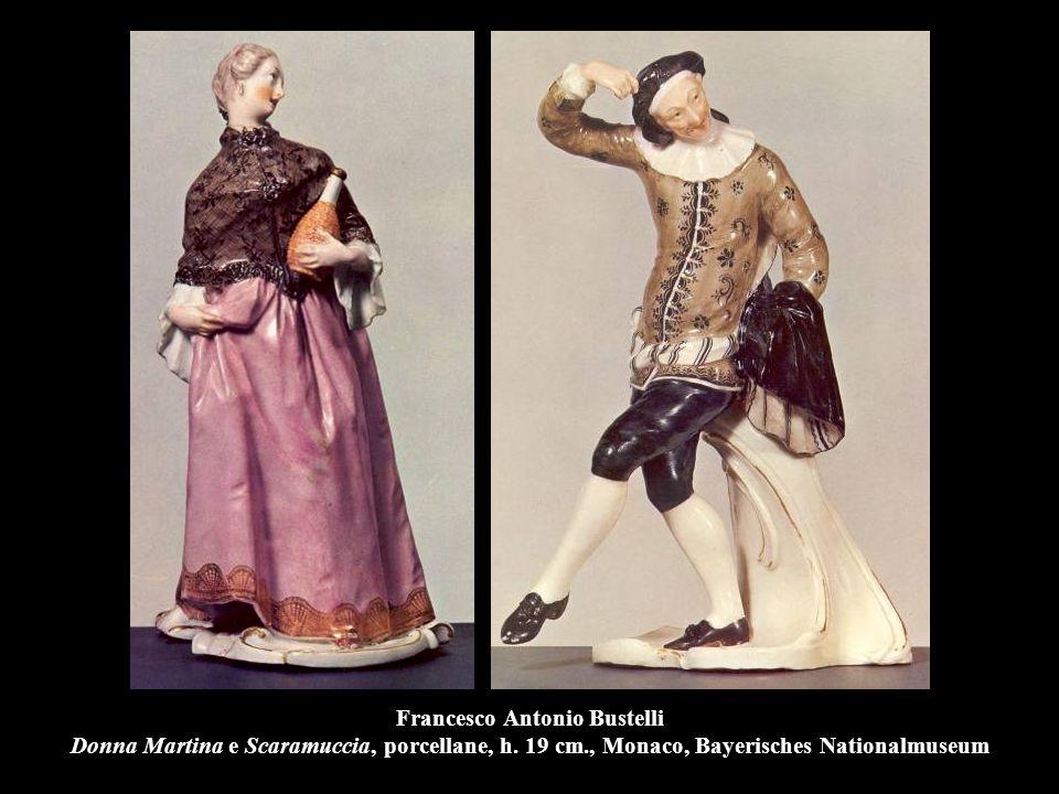 Francesco Antonio Bustelli Donna Martina e Scaramuccia, porcellane, h