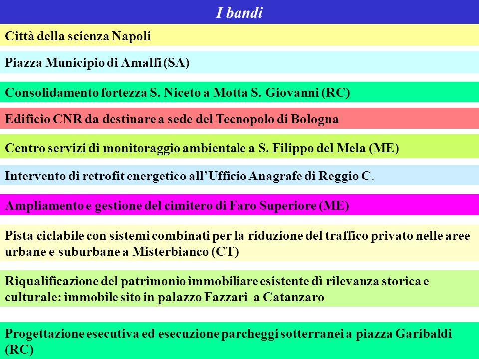 I bandi Città della scienza Napoli Piazza Municipio di Amalfi (SA)