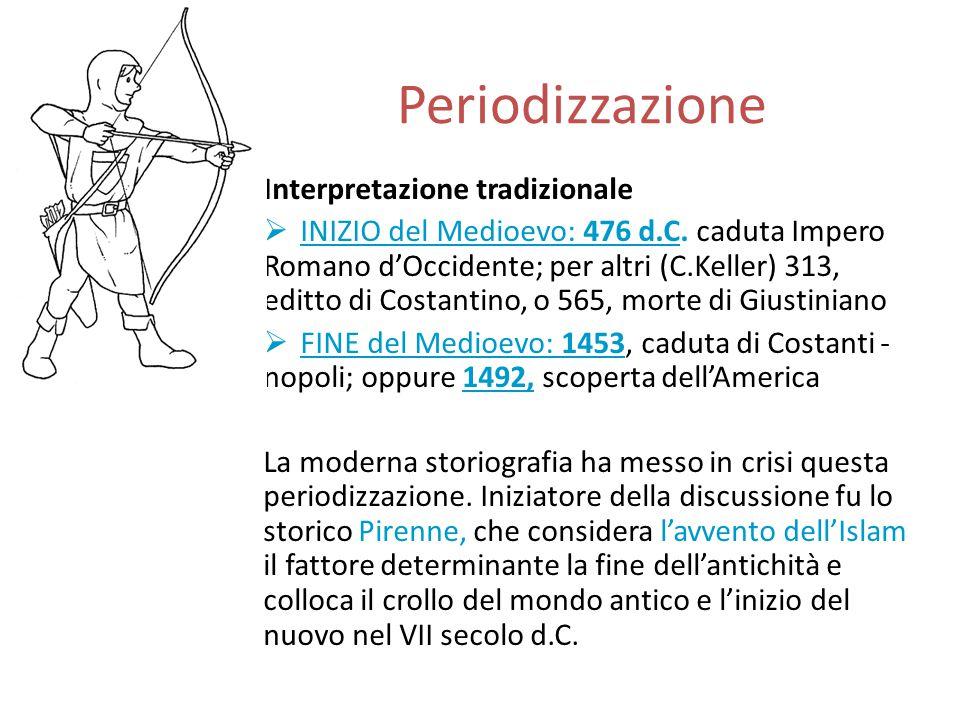 Periodizzazione Interpretazione tradizionale