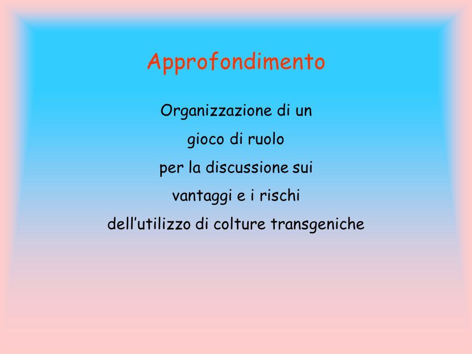 dell'utilizzo di colture transgeniche