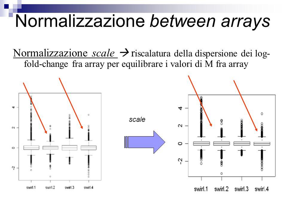 Normalizzazione between arrays