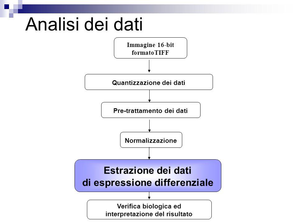 Analisi dei dati Estrazione dei dati di espressione differenziale