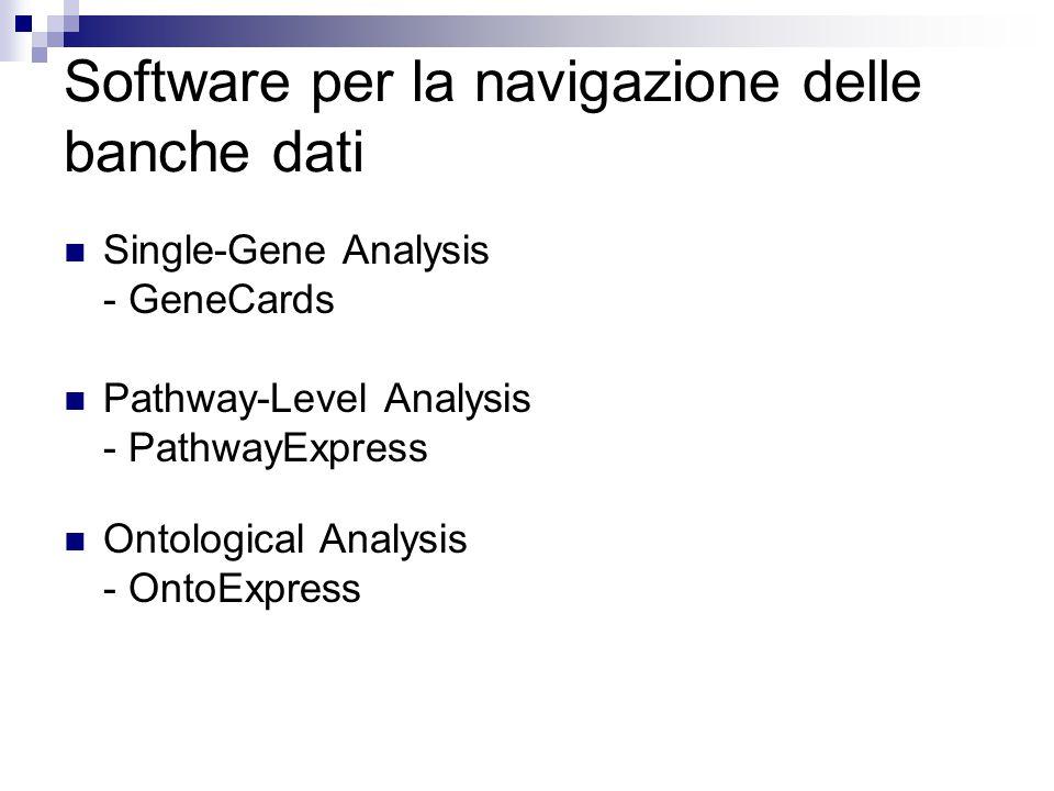 Software per la navigazione delle banche dati