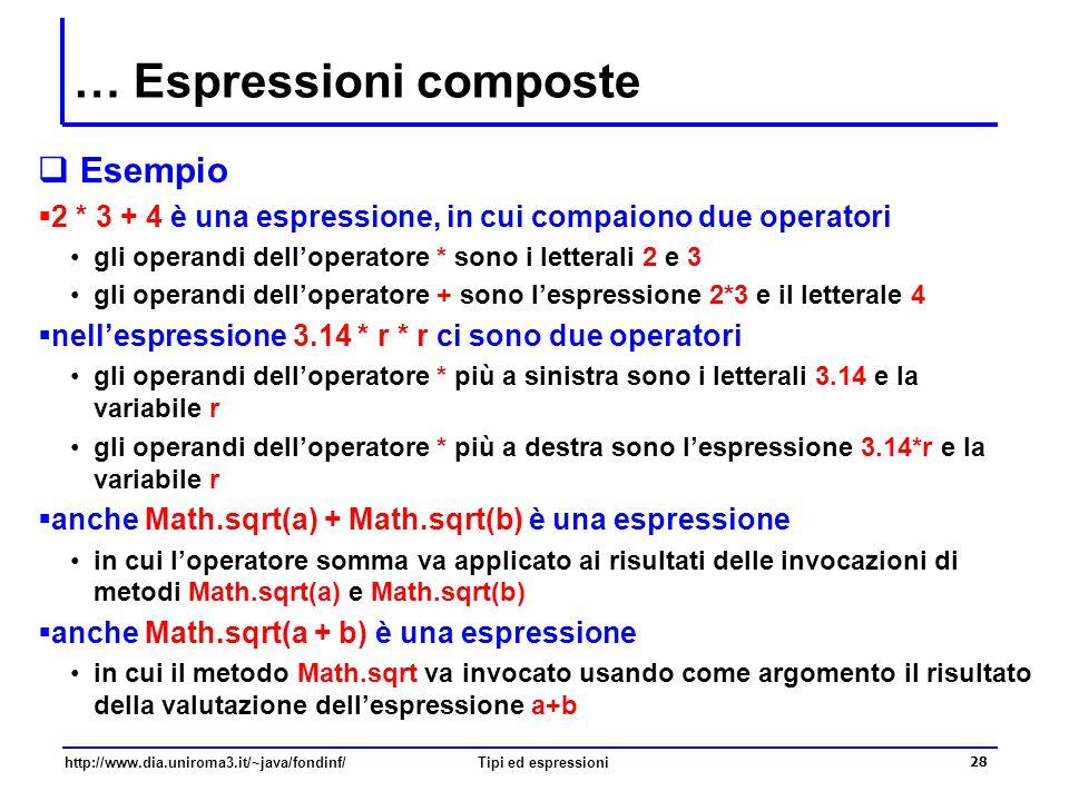 … Espressioni composte