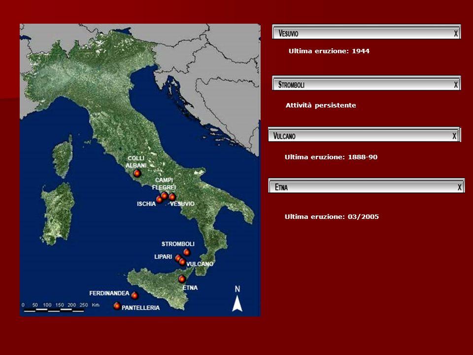 Ultima eruzione: 1944 Ultima eruzione: 03/2005 Attività persistente