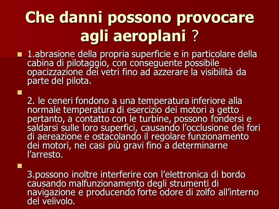 Che danni possono provocare agli aeroplani