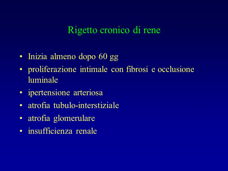 Rigetto cronico di rene