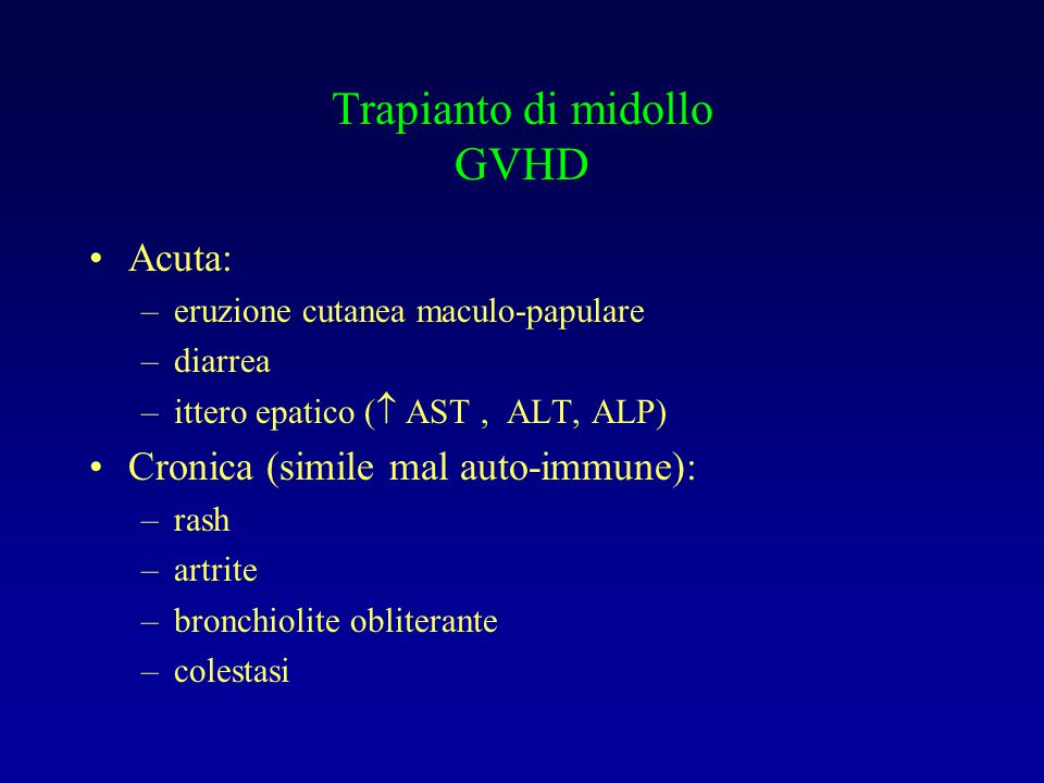 Trapianto di midollo GVHD