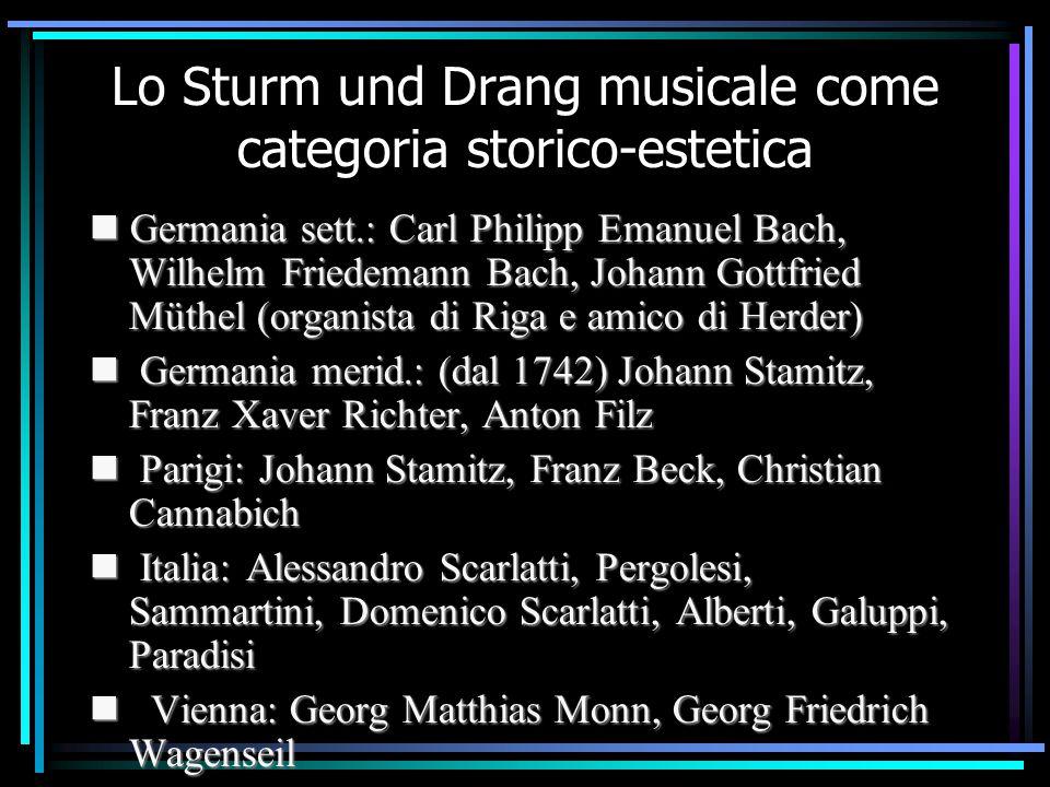 Lo Sturm und Drang musicale come categoria storico-estetica