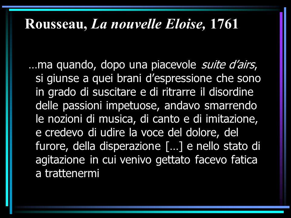 Rousseau, La nouvelle Eloise, 1761