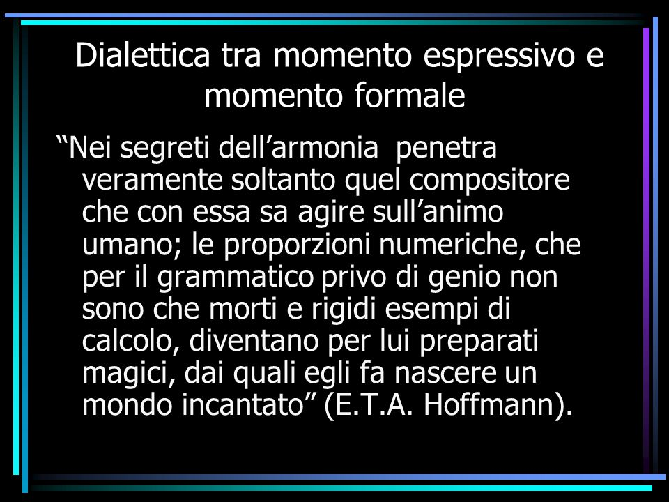 Dialettica tra momento espressivo e momento formale