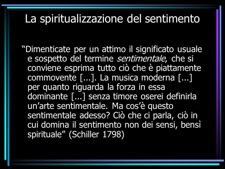 La spiritualizzazione del sentimento