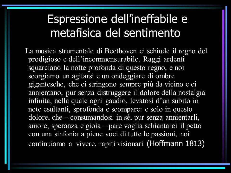 Espressione dell'ineffabile e metafisica del sentimento