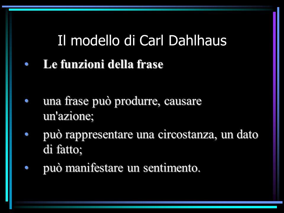 Il modello di Carl Dahlhaus