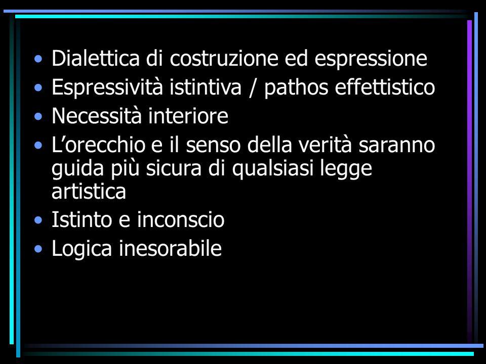 Dialettica di costruzione ed espressione