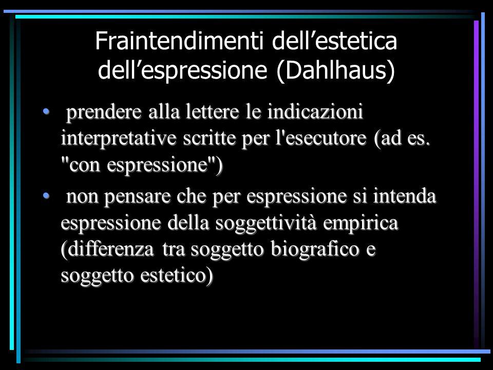 Fraintendimenti dell'estetica dell'espressione (Dahlhaus)