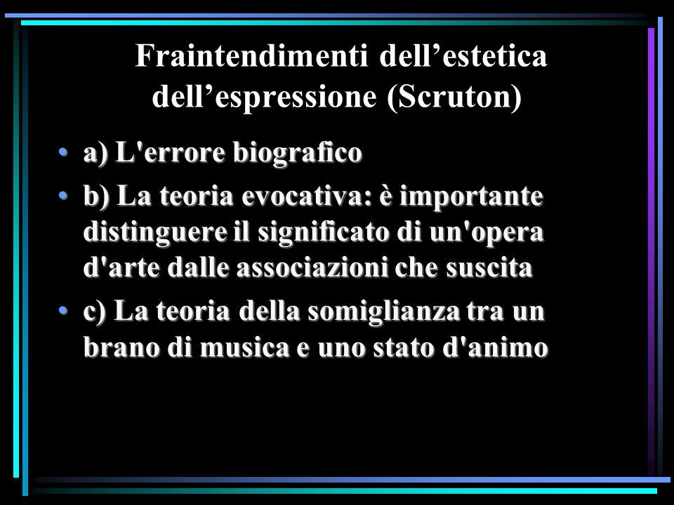 Fraintendimenti dell'estetica dell'espressione (Scruton)