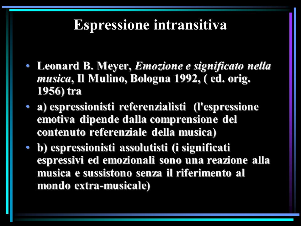Espressione intransitiva