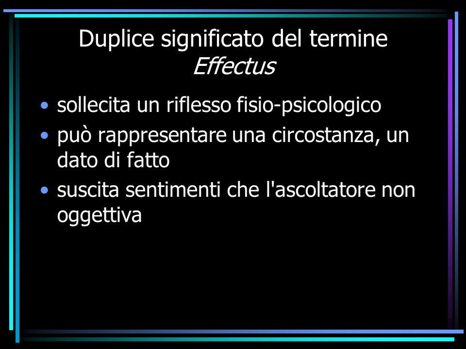 Duplice significato del termine Effectus