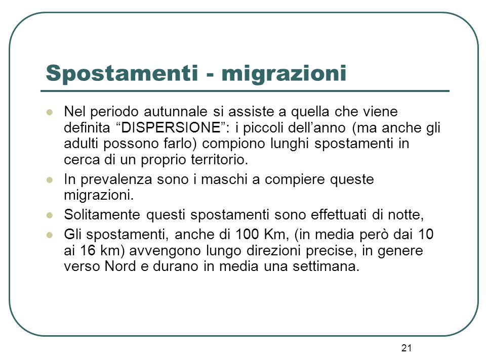 Spostamenti - migrazioni